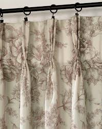 hampton toile pinch pleat window curtain panel mocha