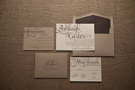 rustic wedding invitation real wedding ashleigh and rustic kraft wedding invitation