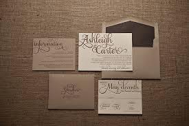 wedding invitations rustic real wedding ashleigh and rustic kraft wedding invitation