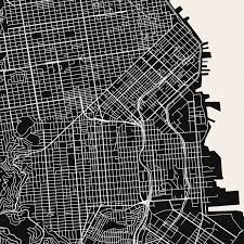 San Francisco City Map by San Francisco Map Art Print Mr City Printing Touch Of Modern