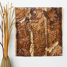 wall decor thailand wood art panels nature carvings