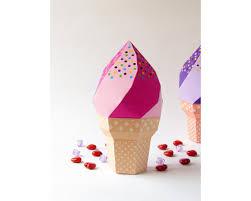 Diy Favor Box Template Printable by Diy Icecream Favor Box Strawberry Icecream Soft Serve With