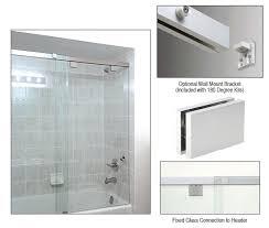 crl cabs65sa cabo 180 degree soft slide shower door sliding system
