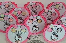 Hello Kitty Invitation Card Maker Free Hello Kitty Birthday Party Invitations Banner Cupcake Toppers