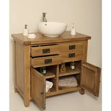 Oak Bathroom Vanity Unit Valencia Rustic Oak Bathroom Vanity Shabby Chic Bathrooms