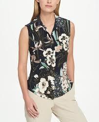 print blouse hilfiger floral print blouse tops macy s