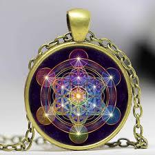 glass necklace pendants wholesale images Wholesale glass dome mandala necklace metatron 39 s cube photo jpg