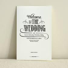 handlettered love wedding program order of service diy