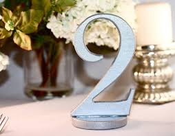silver wedding table numbers silver wedding reception table numbers