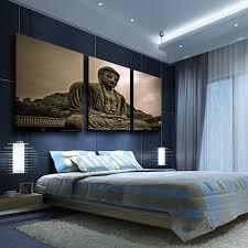 Buddha Home Decor Aliexpress Com Buy 3 Panels Buddha Canvas Painting Home Decor