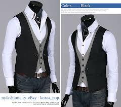 nyfashioncity k pop style mens vest layered dress vests for