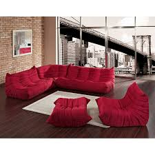 Red Sectional Sofas by Amazon Com Modway Eei 558 Red 5 Piece Modular Sectional Sofa Set