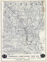 Unlv Map File Map Showing Tonopah Tidewater Railroad Company Line From