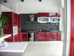 Red And Black Kitchen Ideas Tag For Black And Red Kitchen Cabinets Nanilumi Exitallergy