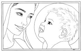 mary baby jesus coloring page coloring pages