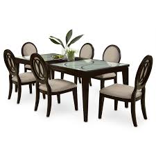 Dining Room Table 6 Chairs by Cosmo Table And 6 Chairs Merlot American Signature Furniture
