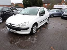 peugeot second hand cars peugeot 206 van 2005 1 4 white in leicester leicestershire