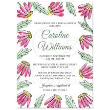 where to register for a bridal shower garden bridal shower invitation with pretty pink water color flowers