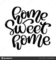 home sweet home decorations calligraphic quote home sweet home hand lettering typography poster