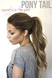hair with poof on top neat ponytail trick pull everything but the very front and top