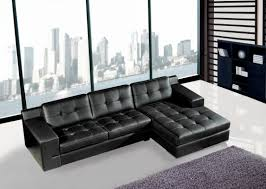 Black Sectional Sofa With Chaise Black Leather Sectional Sofa