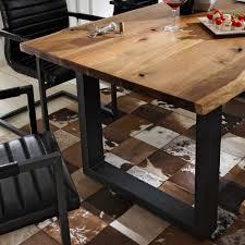 Esszimmer Akazie Hell Massiver Baumstamm Tisch Genesis 180 Cm Eiche Massivholz Baumkante