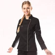 veste de cuisine pas cher noir veste de cuisine femme manche courte longue pas cher