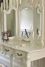 Shabby Chic Mirrors For Sale by Large Ivory Cream Dressing Table And Mirror Shabby French Vintage