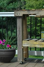 Learn Bench How To Make A Workbench Out Of Pallets Little House Of Four