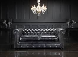 Leather Sofa Chesterfield by Black Leather Sofa Gives Elegant Impression 1 House Design Ideas