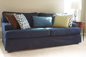 Slipcovered Sleeper Sofa Denim Sofa Slipcover Sofas