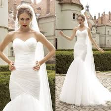 wedding dress ruching classic mermaid wedding dress cheap simple ruched tulle