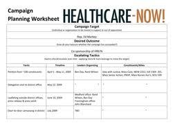 healthcare now u0027s grassroots legislative advocacy training
