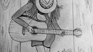 guitar pencil sketch guitar pencil drawing youtube drawing