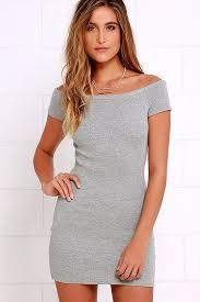 grey bodycon dress grey dress bodycon dress the shoulder dress 32 00