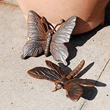 cast iron butterfly dragonfly garden ornament set co uk
