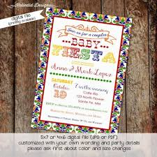 baby shower invitation gender reveal coed couples mexican