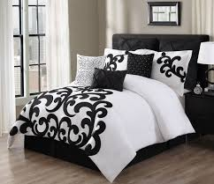 duvet covers queen black and white