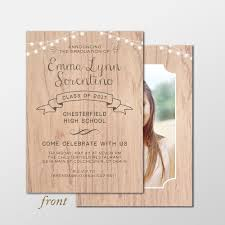 Graduation Invite Cards Country Chic Senior Graduation Announcement Photo Cards