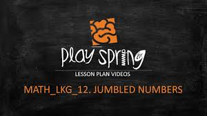 math junior kg jumbled numbers youtube