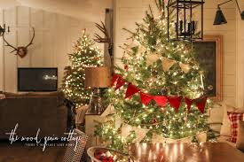 christmas tree night tour the wood grain cottage