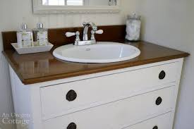 How To Build Your Own Bathroom Vanity by How To Make A Dresser Into A Vanity Tutorial