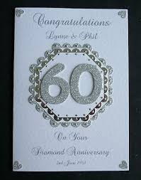 60th wedding anniversary greetings 10 best diamond wedding cards images on wedding cards