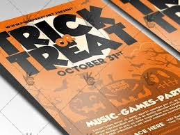 trick or treat halloween flyer psd template by psd market dribbble