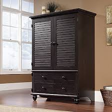 sauder tv armoire entertainment armoire with antiqued paint finish and cottage style