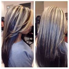 hair styles brown on botton and blond on top pictures of it best 25 dark underneath hair ideas on pinterest blonde hair