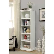 5 Shelves Bookcase Home Decorators Collection Amelia White Open Bookcase Sk18488c