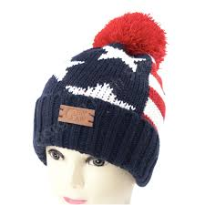 American Flag Beanie Gb Usa Flag Beanie Pom Pom Hats Stars And Stripes Warm Winter