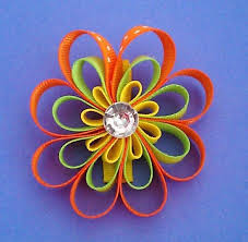 flower bow items similar to flower hair bow flower hair bows