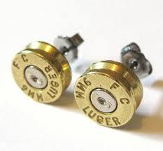 bullet stud earrings bullet earrings right up my alley pistols